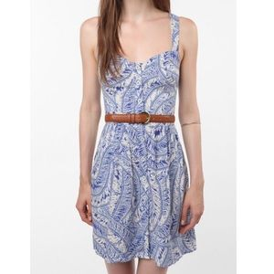 UO Staring at Stars Crossback Button-Down Dress